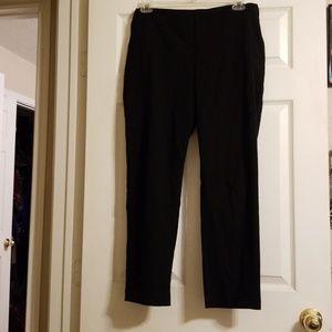 Black straight leg dress pants. Front pockets.
